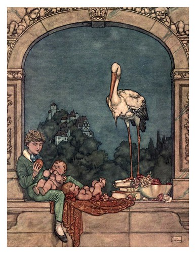 015-La cigueña-Hans Andersen's fairy tales (1913)- William Heath Robinson