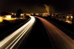 Para no ser menos (ribadeluis) Tags: cars luces noche asturias autopista nocturna coches nigth avils exposicin cuidad corvera vehculos estelas