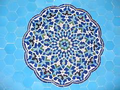 Day 3: Yazd - Jameh Mosque (birdfarm) Tags: iran tiles badge friday yazd tilework جامع یزد persiantiles ایرانیزدمسجد mosquemosquejame mosquejameh mosquepatternsمسجد