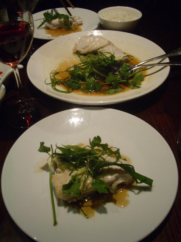 Steamed wild barramundi at Lau's