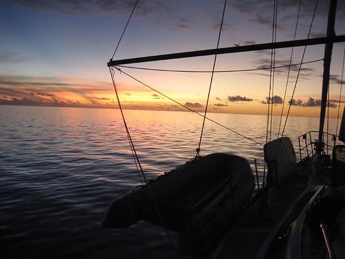 Fakarava, sunset over lagoon