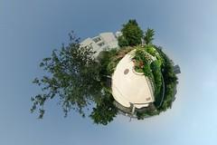 Parc de Belleville (gadl) Tags: panorama paris france belleville tripod gimp projection polar parc 360 stereographic hugin en