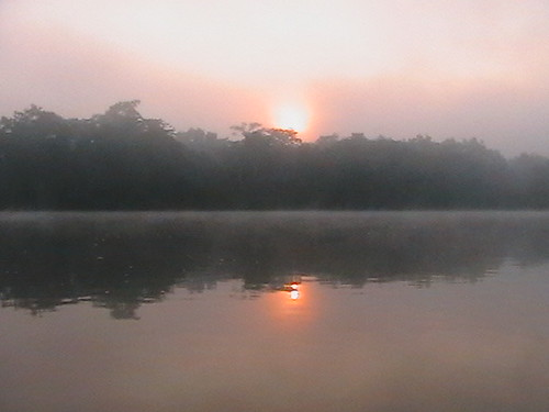 sunrise over Lomami river, 100km south of Opala