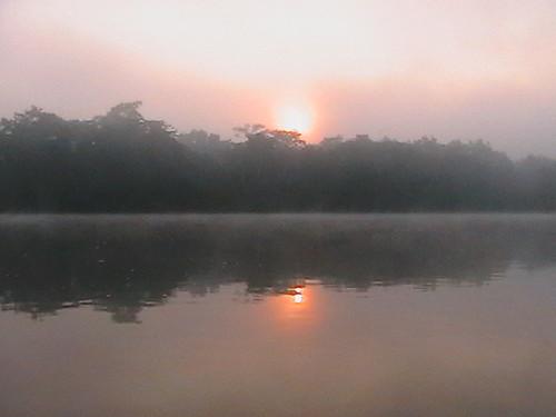 sunrise over Lomami river, 100km south of Opala