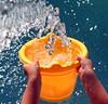 Catch A Falling Star... (peasap) Tags: california ca summer sky sun wet water pool swimming drops bucket sandiego pipe elcajon el hose drip cajon hosepipe