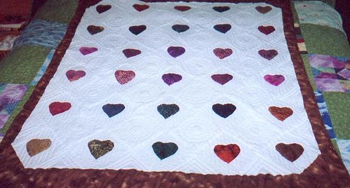 Doreen's Finished Heart quilt