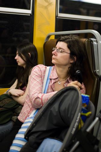 Sandra in de metro