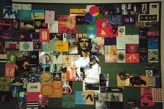 Designer's inspirational noticeboard
