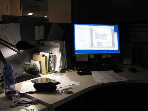 My cubicle at Radio-Canada