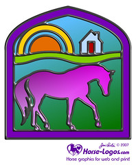 Stain Glass Horse