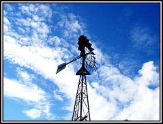 Windmill in the clouds
