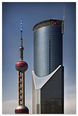 skyscrapers (staffh) Tags: china city urban building tower skyline architecture facade skyscraper skyscrapers shanghai angle towers staff metropolis tall  pudong shanghaiist bankofchina lujiazui