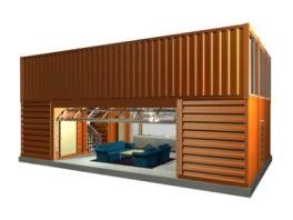 Casa hecha con contenedor