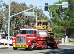 CDF Fire Truck + Dozer (MR38) Tags: truck fire international dozer temecula bulldozer wideload cdf deluz code3