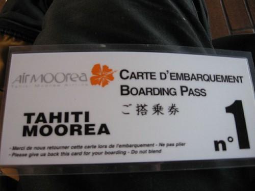 Moorea ticket