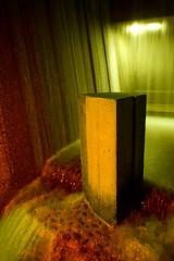 Monolith (LukeOlsen) Tags: nightphotography usa lightpainting water fountain night oregon portland nocturnal nocturne irakellerfountain 550ex guesswherepdx guessedwherepdx kellerfountain irakeller strobist lukeolsen pdxstrobist