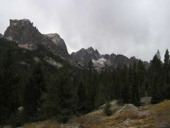 Ominous clouds as we are leaving the Sawtooths