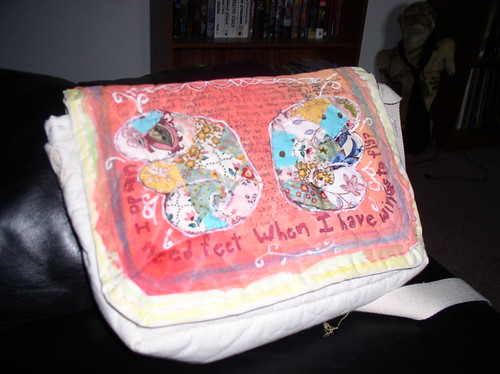 wings journaled purse