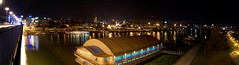 Brankov Most | night panorma Belgrade (marzellluz) Tags: skyline europe riverside serbia nightview belgrade panorma savariver brankovmost marcelbruinshoofd