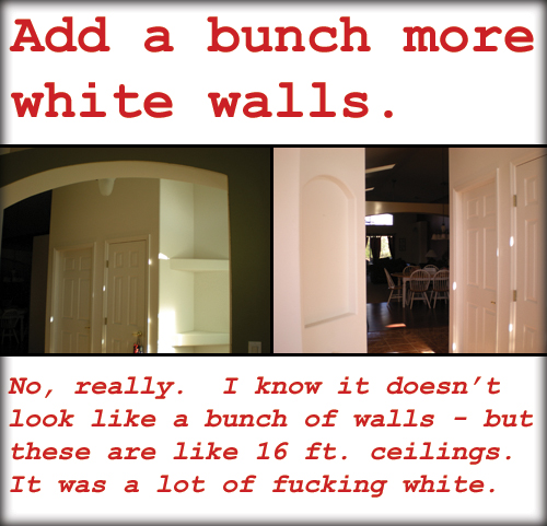 a bunch of white walls - ooh! interesting!