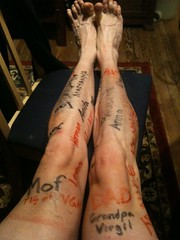 My legs with 400 km for the day
