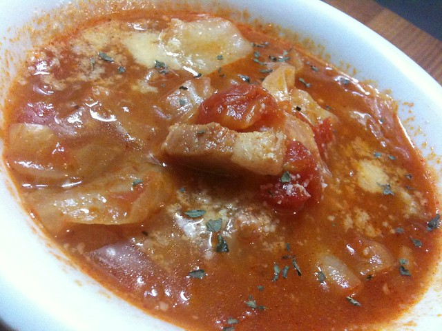 キャベツのトマトチーズ煮込み、おいしー! #jisui