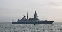 HMS Dauntless (Tudor Barlow) Tags: autumn england navy hampshire destroyer portsmouth royalnavy type45destroyer tamron1750 enteringharbour