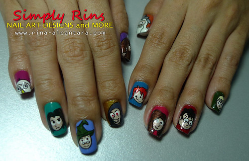 Nail Art Harry Potter Characters 04