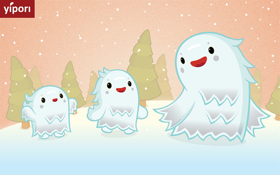 Snow monsters march