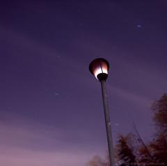 Sodium Vapour/Vapor: Last Legs (martintype) Tags: nightphotography light film night zeiss stars streetlight streetlamp hasselblad analogue sodium vapour vapor filmphotography hasselblad500cm