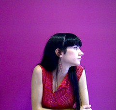 counting days (romanalilic) Tags: red portrait selfportrait love girl beautiful wall myself office webcam waiting mood dress shot emotion gorgeous violet days ljubljana lovely emotional guapa counting longing logitech ism mesmerizing ishotmyself melodrom pristop dra pletenine
