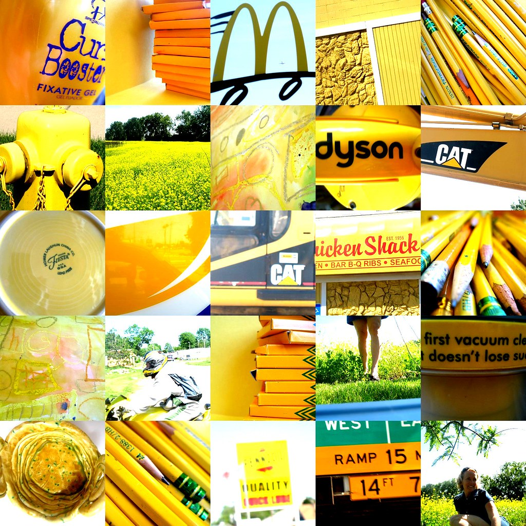 my sunny yellow collage for yellow day!