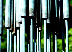 Wind Chimes at Kentuck Knob (mikeyexists) Tags: abstract metal architecture grit photography photo pennsylvania steel franklloydwright photograph windchimes kentuckknob franklloyd whindchime