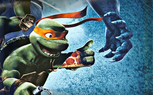 """"""" TMNT """" AUSTRALIAN teaser poster { TMNT v. SPITEX & Foot  } / detail D  (( 2007 ))"""