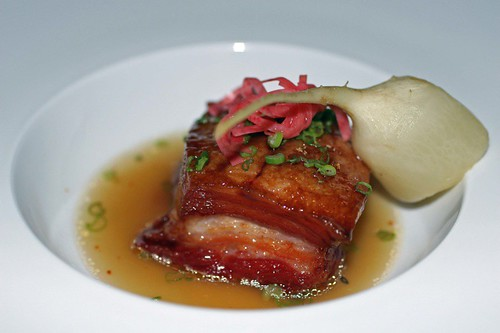 Pork belly and turnip soup