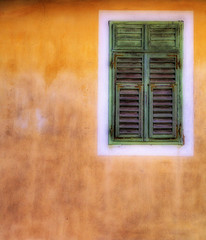 mediterranean minimalism (pihe) Tags: orange green window yellow closed mediterranean colours croatia olympus shutter minimalism shut horvatorszag hotweather blueribbonwinner c5050 supershot selce abigfave soulsresonance csrgeszabolcs szabolcsjcsorge csorgehu