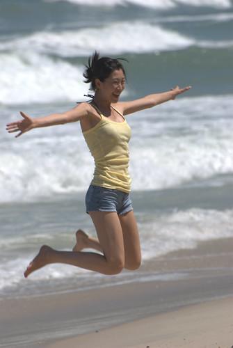 Korean Girl Jumps.... by bovinemagnet.
