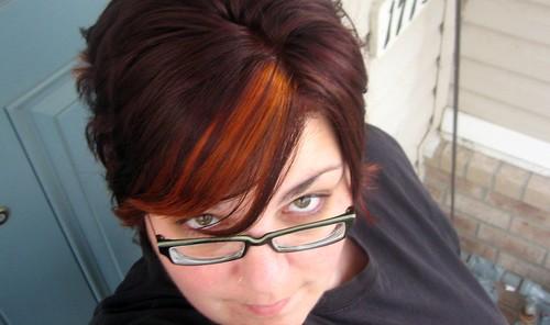 Orange & Violet hair