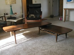vintage cherry coffee table