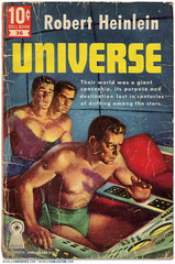"""Universe"" Dell 10 Book, 1951 (markbult) Tags: illustration retro scifi sciencefiction universe bookcovers heinlein retroart robertaheinlein robertheinlein heinleinia"