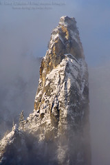 Cathedral Spire, Yosemite (enlightphoto) Tags: california winter usa cloud mountain snow weather rock vertical season landscape nationalpark scenic peak sierra yosemite blueribbonwinner cathedralspire aplusphoto holidaysvacanzeurlaub frhwofavs garycrabbe enlightenedimages enlightphotocom