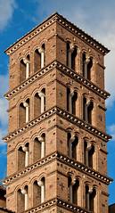 Torre Campanaria della Basilica dei Santi Giovanni e Paolo, Roma. (kajojak) Tags: urban rome roma tower torre basilica kajojak lptowers