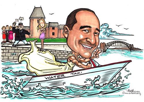 Runaway groom caricature - A3