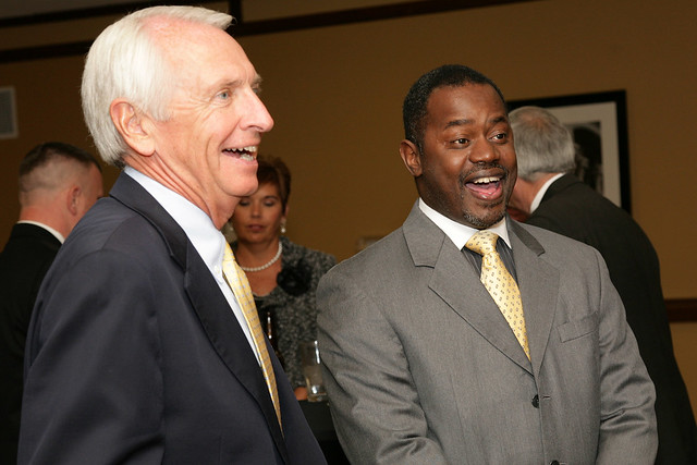 Governor Steve Beshear and a Supporter