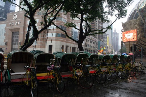 Rickshaws in the Rain