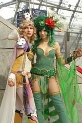 Rosa Farrell & Rydia, Final Fantasy IV (cosplay shooter) Tags: anime green c