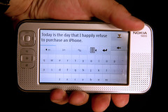 Today is the Day That I Happily Refuse to Purchase and iPhone (timsamoff) Tags: nokia internet pda device handheld tablet samoff iphone internettablet handhelddevice n800 nokian800 nokian800internettablet