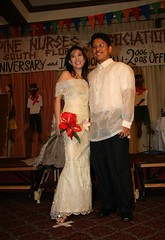 Larry and kirsten wearing Filipiniana Wedding gown made of Pinia Fabric (kirsten regalado) Tags: gown kirsten filipiniana barong regalado pinia