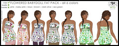 [MG fashion] Flowered babydoll - FAT PACK
