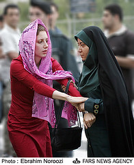 Beauty & the Beasts (Hamed Saber) Tags: beautiful wearing scarf persian democracy bush war colorful power veil iran hijab police nuclear persia shit ugly saber damn iranian fascism atomic  hamed fascist reddress islamic obligation pease reform farsi   ahmadinejad chador killemall totalitarianism     totalitar      blackugly myiran totalism